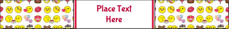 "9¾"" x 1¼"" Wraparound Label - Valentine Emoji"