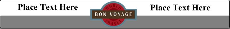 "9¾"" x 1¼"" Wraparound Label - Vintage Travel"