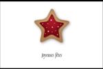 Biscuit en forme d'étoile Cartes de souhaits pliées en deux - gabarit prédéfini. <br/>Utilisez notre logiciel Avery Design & Print Online pour personnaliser facilement la conception.