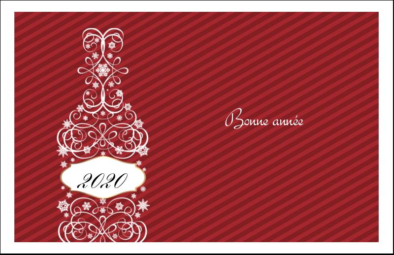 """5½"""" x 8½"""" Cartes de souhaits pliées en deux - Bouteille de champagne en spirale"""