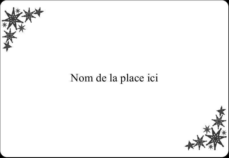 """3⅜"""" x 2⅓"""" Badges - Angle étoilé"""
