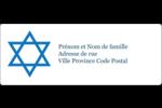 Étoile de David Étiquettes d'adresse - gabarit prédéfini. <br/>Utilisez notre logiciel Avery Design & Print Online pour personnaliser facilement la conception.