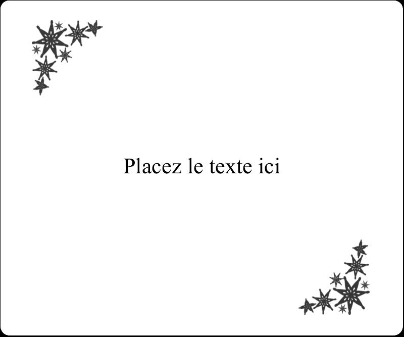 """4"""" x 3⅓"""" Étiquettes D'Identification - Angle étoilé"""