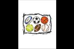Balles de Sport  Cartes Et Articles D'Artisanat Imprimables - gabarit prédéfini. <br/>Utilisez notre logiciel Avery Design & Print Online pour personnaliser facilement la conception.