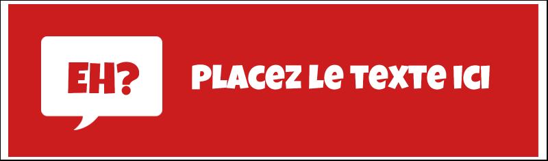 """2½"""" x 8½"""" Affichette - Parlez-vous canadien eh? (Rouge)"""