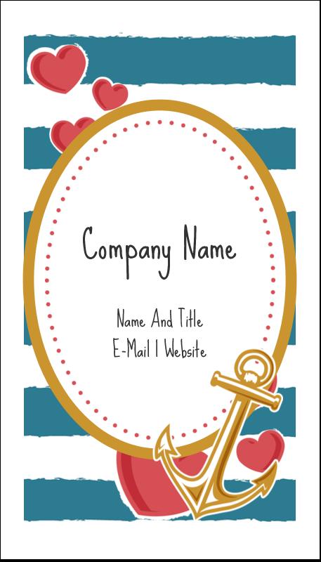 "3½"" x 2"" Business Card - Valentine Anchor"