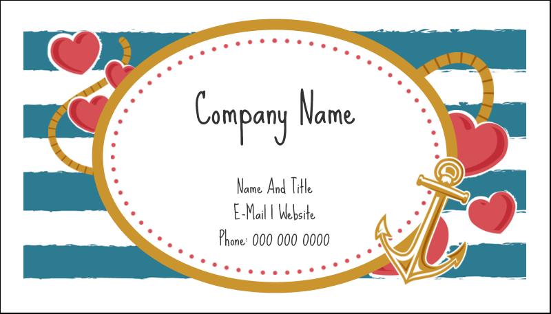 "2"" x 3½"" Business Card - Valentine Anchor"
