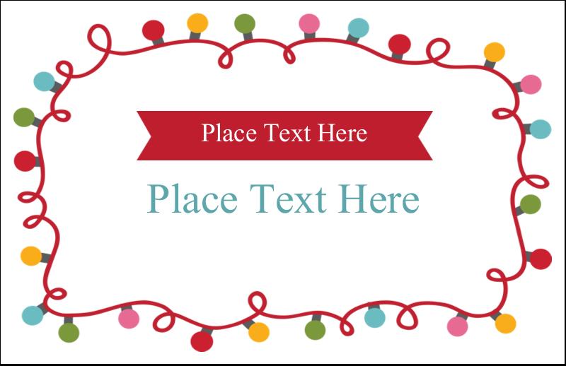 "5½"" x 8½"" Greeting Card - Holiday Lights"