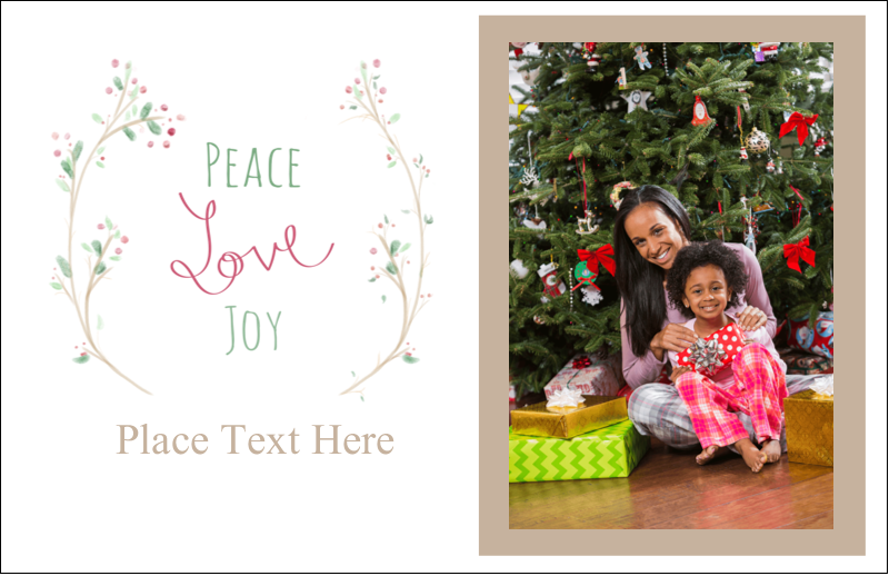 "5½"" x 8½"" Greeting Card - Peace Love Joy"