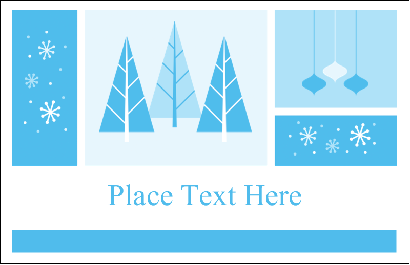 "5½"" x 8½"" Greeting Card - Retro Winter Wonderland"