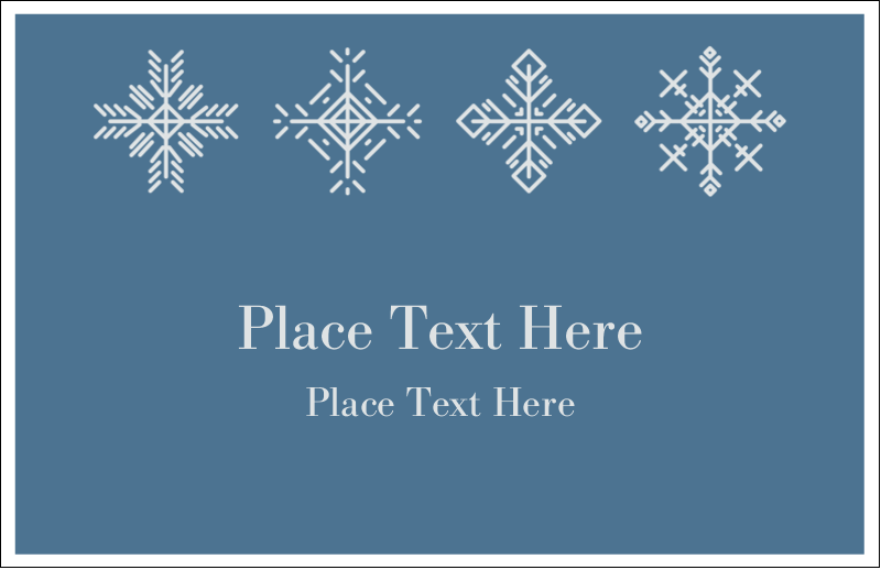 "5½"" x 8½"" Greeting Card - Snowflakes"