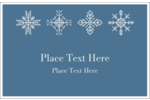 Your custom project will dazzle and delight with pre-designed Snowflakes templates.