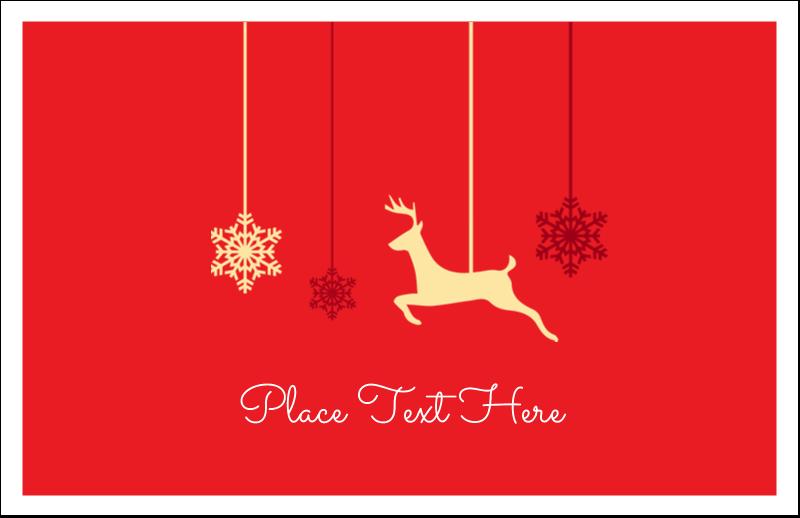 "5½"" x 8½"" Greeting Card - Deer Decor"