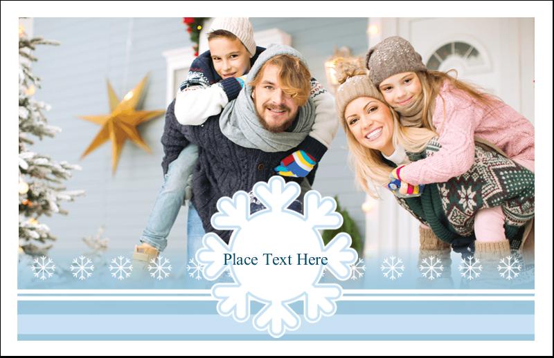 "5½"" x 8½"" Greeting Card - Blue Snowflake"