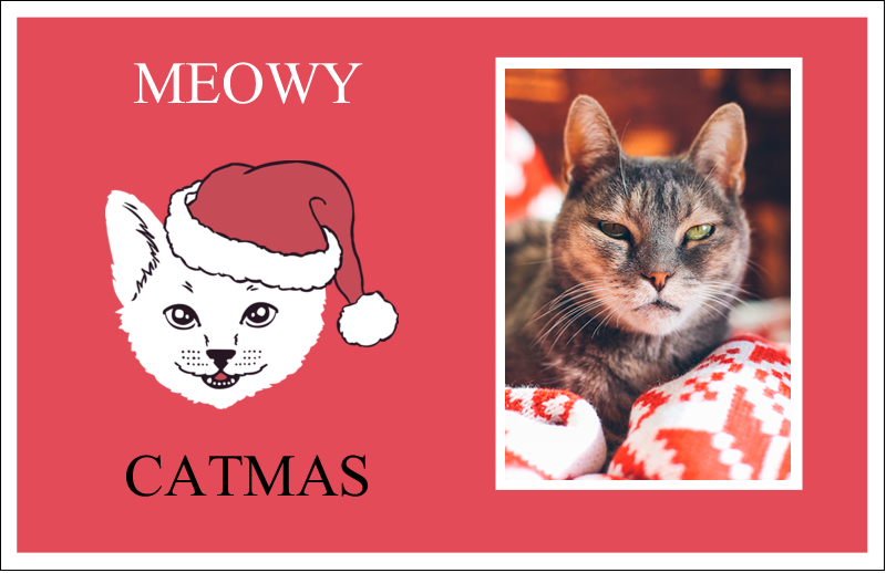 "5½"" x 8½"" Greeting Card - Catmas Meowy"