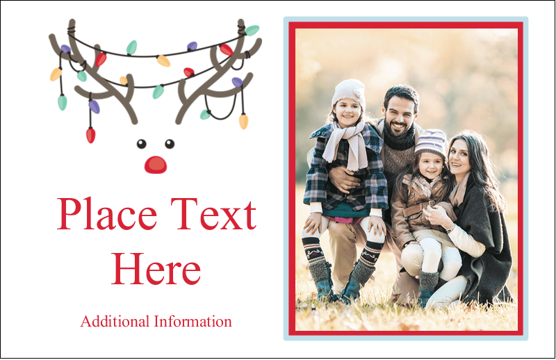 "5½"" x 8½"" Greeting Card - Reindeer Antler Lights"