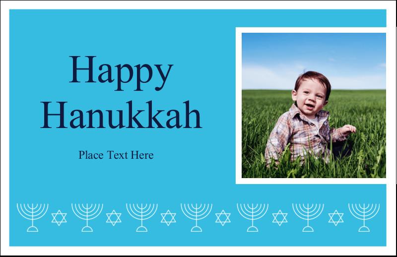 """5½"""" x 8½"""" Greeting Card - Hanukkah Menorah"""
