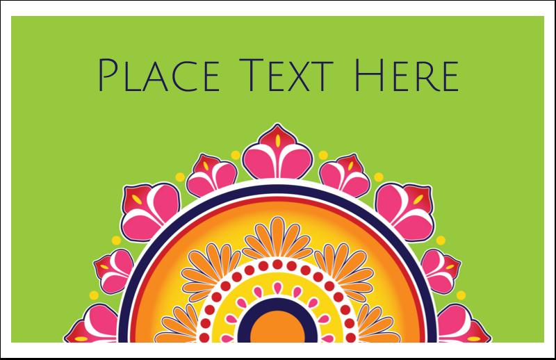"5½"" x 8½"" Greeting Card - Diwali Rangoli"