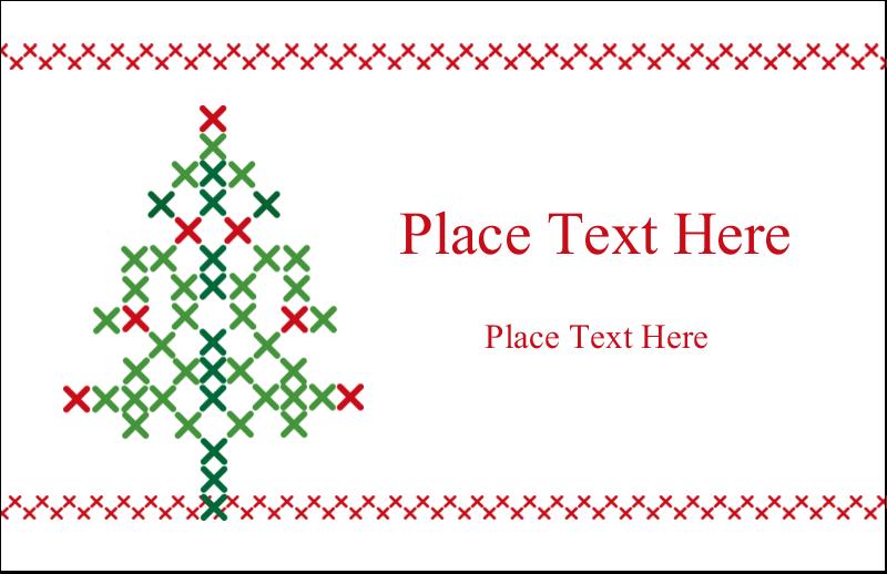 """5½"""" x 8½"""" Greeting Card - Cross Stitch Tree"""