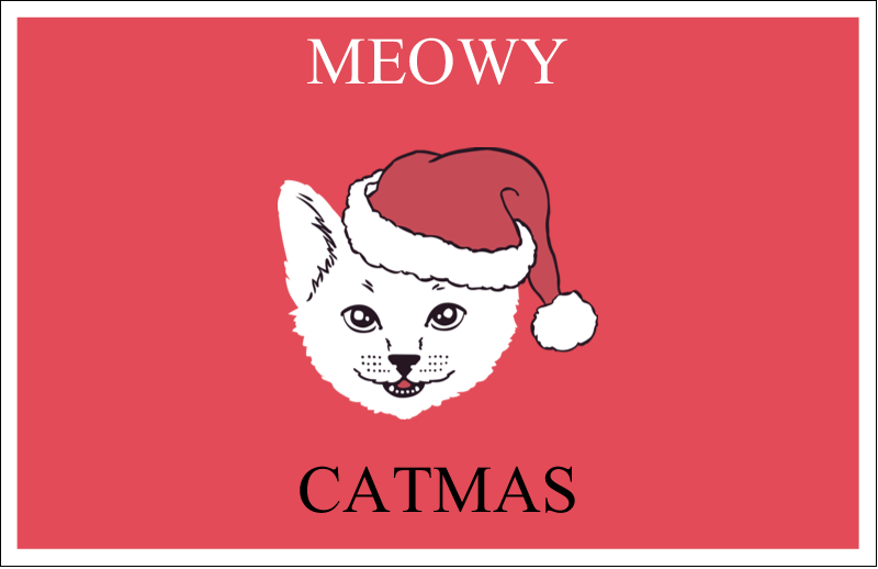 "5½"" x 8½"" Greeting Card - Catmas Meowy"