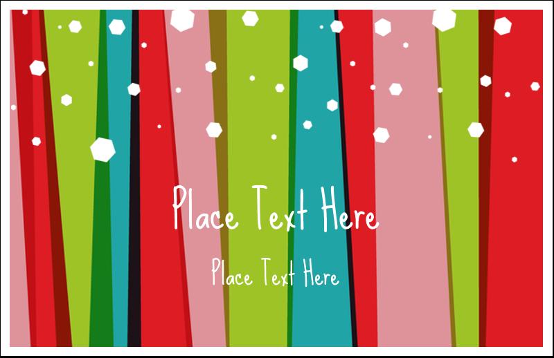 "5½"" x 8½"" Greeting Card - Christmas Retro Stripe"