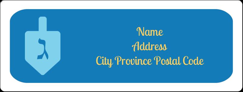 "1"" x 2⅝"" Address Label - Hanukkah Dreidel"