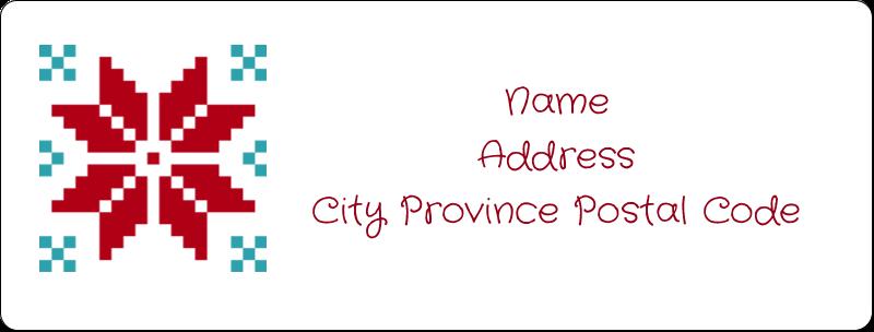 "1"" x 2⅝"" Address Label - Poinsettia Sweater"