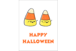 Bring whimsical fun to custom projects with pre-designed Halloween Candy Corn templates.