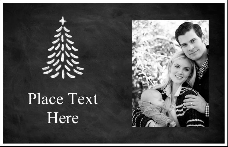 """5½"""" x 8½"""" Greeting Card - Chalkboard Tree"""