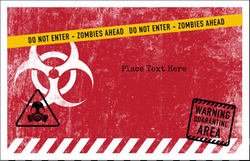 "5½"" x 8½"" Greeting Card - Halloween Zombie Apocalypse"