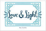 Illuminate custom projects with pre-designed Handwritten Love and Light templates.