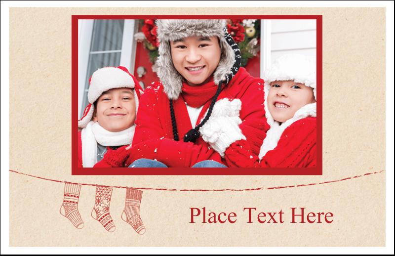 """5½"""" x 8½"""" Greeting Card - Hanging Stockings"""