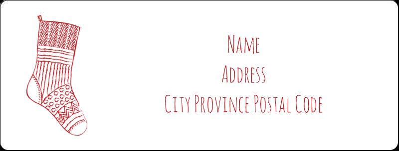 "1"" x 2⅝"" Address Label - Hanging Stockings"