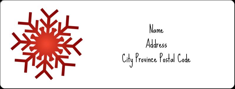 """1"""" x 2⅝"""" Address Label - Felt Snowflakes"""