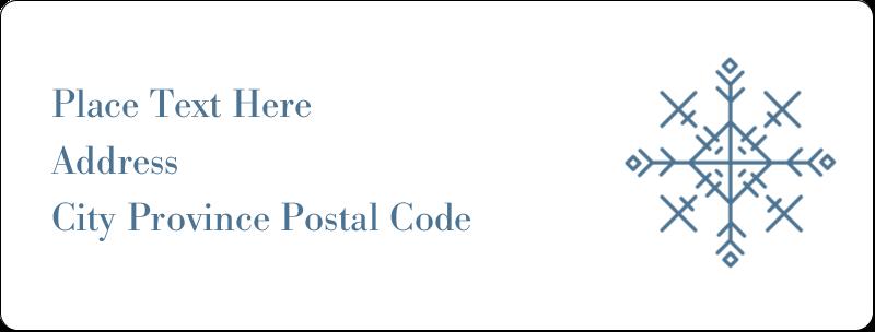 "1"" x 2⅝"" Address Label - Snowflakes"