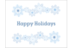 Custom projects are sure to dazzle and delight with pre-designed Blue Snowflakes templates.