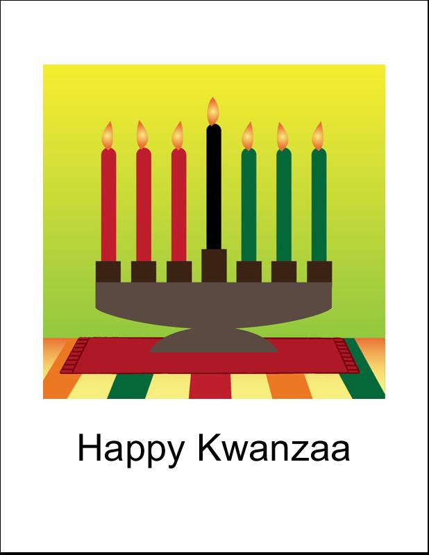 "8½"" x 11"" T-Shirt-Tranfers - Kwanzaa Green Glow"