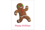 Add whimsical fun to projects with pre-designed Holiday Gingerbread Man templates.