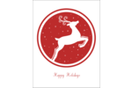 Add seasonal cheer to projects with pre-designed Holiday Circle Reindeer templates.