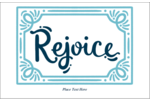 Add joyful simplicity to custom projects with pre-designed Handwritten Rejoice templates.