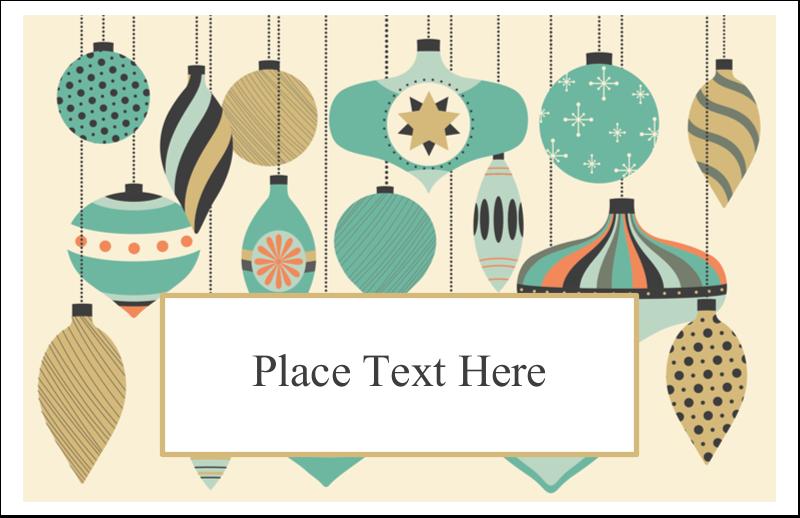 """5½"""" x 8½"""" Greeting Card - Ornament Pattern"""