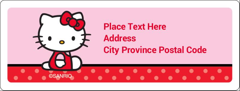 "1"" x 2⅝"" Address Label - Supercute Hello Kitty"