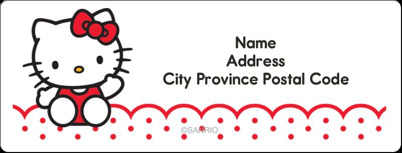 "1"" x 2⅝"" Address Label - Hello Kitty Waving"