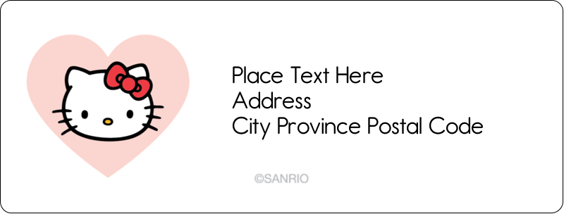 "1"" x 2⅝"" Address Label - We love Hello Kitty"