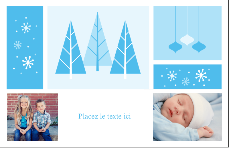"""5½"""" x 8½"""" Cartes de souhaits pliées en deux - Les gabarits Pays des merveilles hivernales rétro pour votre prochain projet créatif"""