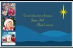 Étoile de Bethléem Cartes de souhaits pliées en deux - gabarit prédéfini. <br/>Utilisez notre logiciel Avery Design & Print Online pour personnaliser facilement la conception.