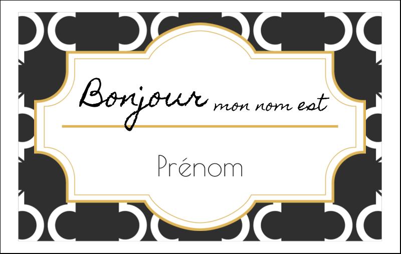 Tuile marocaine noire Étiquettes badges autocollants - gabarit prédéfini. <br/>Utilisez notre logiciel Avery Design & Print Online pour personnaliser facilement la conception.