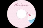 Petit gâteau aux cerises Étiquettes Pour Médias - gabarit prédéfini. <br/>Utilisez notre logiciel Avery Design & Print Online pour personnaliser facilement la conception.