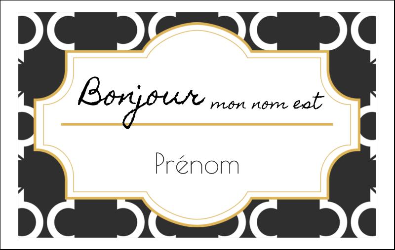 Tuile marocaine noire Badges - gabarit prédéfini. <br/>Utilisez notre logiciel Avery Design & Print Online pour personnaliser facilement la conception.