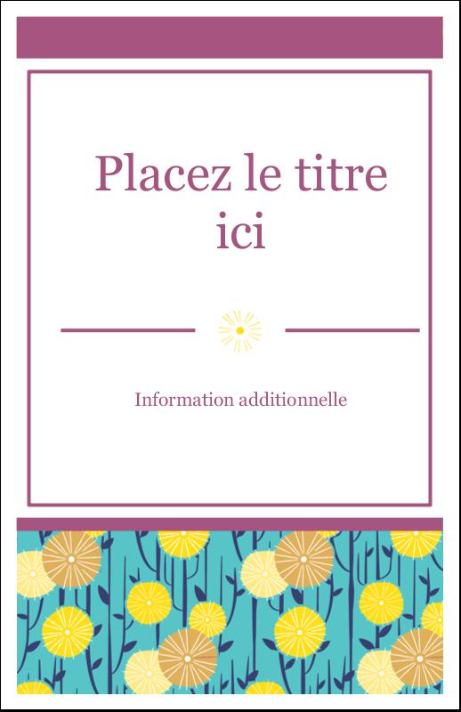 """8½"""" x 5"""" Cartes Et Articles D'Artisanat Imprimables - Impression pissenlit"""